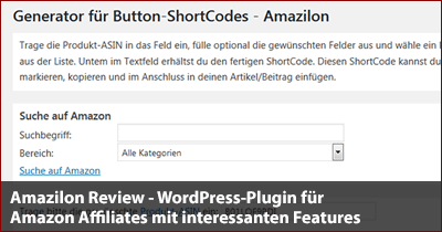 Amazilon.com Review - WordPress-Plugin für Amazon-Affiliates