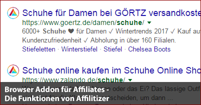 Browser Addon für Affiliates - Affilitizer