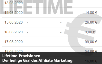 Lifetime-Provisionen - Der heilige Gral des Affiliate Marketing