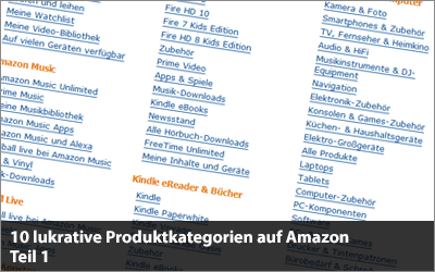 10 lukrative Produktkategorien auf Amazon