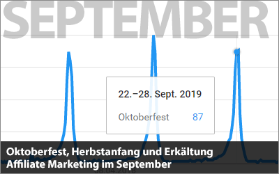 Oktoberfest, Herbstanfang und Erkältung - Affiliate Marketing im September