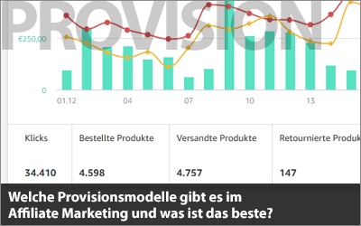 Welche Provisionsmodelle gibt es im Affiliate Marketing?