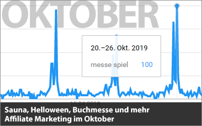 Sauna, Helloween, Buchmesse und mehr - Affiliate Marketing im Oktober