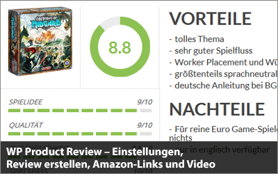 WP Product Review - Einstellungen, Review erstellen und Amazon-Links